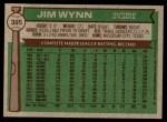 1976 Topps #395  Jim Wynn  Back Thumbnail