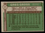 1976 Topps #171  Greg Gross  Back Thumbnail