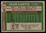 1976 Topps #239  John Curtis  Back Thumbnail