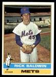 1976 Topps #372  Rick Baldwin  Front Thumbnail