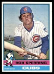 1976 Topps #323  Rob Sperring  Front Thumbnail