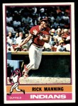 1976 Topps #275  Rick Manning  Front Thumbnail