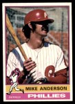 1976 Topps #527  Mike Anderson  Front Thumbnail