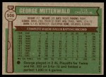 1976 Topps #506  George Mitterwald  Back Thumbnail