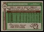 1976 Topps #386  Ed Goodson  Back Thumbnail