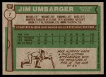 1976 Topps #7  Jim Umbarger  Back Thumbnail