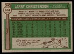 1976 Topps #634  Larry Christenson  Back Thumbnail