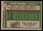 1976 Topps #173  Steve Swisher  Back Thumbnail