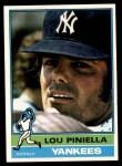 1976 Topps #453  Lou Piniella  Front Thumbnail