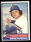 1976 Topps #116  Charlie Moore  Front Thumbnail