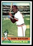 1976 Topps #125  Don Baylor  Front Thumbnail