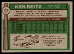 1976 Topps #158  Ken Reitz  Back Thumbnail
