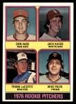1976 Topps #597   -  Don Aase / Jack Kucek / Frank LaCorte / Mike Pazik Rookie Pitchers   Front Thumbnail