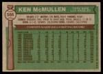 1976 Topps #566  Ken McMullen  Back Thumbnail