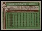 1976 Topps #265  Willie Davis  Back Thumbnail