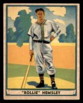 1941 Play Ball #34  Rollie Hemsley  Front Thumbnail