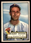1952 Topps #266  Murry Dickson  Front Thumbnail