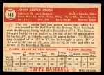 1952 Topps #143 CRM Les Moss  Back Thumbnail