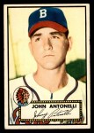 1952 Topps #140 CRM Johnny Antonelli  Front Thumbnail