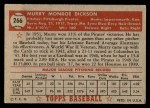 1952 Topps #266  Murry Dickson  Back Thumbnail