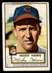 1952 Topps #207  Mickey Harris  Front Thumbnail
