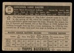 1952 Topps #24 BLK Luke Easter  Back Thumbnail