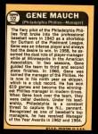 1968 Topps #122  Gene Mauch  Back Thumbnail