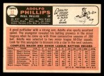 1966 Topps #32  Adolfo Phillips  Back Thumbnail