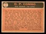 1966 Topps #156   -  Hal Lanier / Dick Schofield Double Play Combo Back Thumbnail
