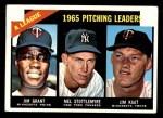 1966 Topps #224   -  Jim Grant / Jim Kaat / Mel Stottlemyre AL Pitching Leaders Front Thumbnail