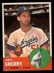 1963 Topps #565  Larry Sherry  Front Thumbnail