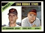 1966 Topps #442   -  Eddie Watt / Ed Barnowski Orioles Rookies Front Thumbnail