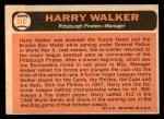1966 Topps #318  Harry Walker  Back Thumbnail