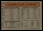 1972 Topps #230  Manny Sanguillen / Luke Walker / Gene Clines 1971 World Series - Summary - Pirates Celebrate Back Thumbnail