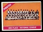 1966 Topps #404 xDOT  Pirates Team Front Thumbnail