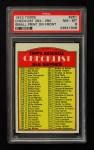 1972 Topps #251 SM  Checklist 3 Front Thumbnail