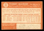 1964 Topps #283  Tom McCraw  Back Thumbnail