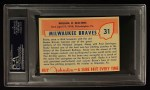 1955 Johnston Cookies #31  Bucky Walters  Back Thumbnail