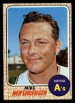 1968 Topps #18  Mike Hershberger  Front Thumbnail