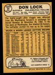 1968 Topps #59  Don Lock  Back Thumbnail
