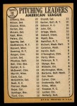 1968 Topps #10 ERR  -  Dean Chance / Jim Lonborg / Earl Wilson AL Pitching Leaders Back Thumbnail