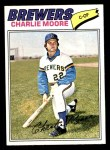 1977 Topps #382  Charlie Moore  Front Thumbnail