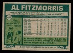 1977 Topps #449  Al Fitzmorris  Back Thumbnail