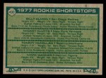 1977 Topps #490   -  Billy Almon / Mickey Klutts / Tommy McMillas / Mark Wagner Rookie Shortstops  Back Thumbnail