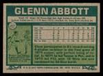 1977 Topps #207  Glenn Abbott  Back Thumbnail