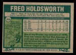 1977 Topps #466  Fred Holdsworth  Back Thumbnail