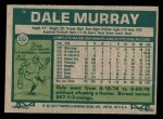 1977 Topps #252  Dale Murray  Back Thumbnail