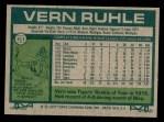1977 Topps #311  Vern Ruhle  Back Thumbnail