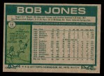 1977 Topps #16  Bob Jones  Back Thumbnail