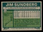 1977 Topps #351  Jim Sundberg  Back Thumbnail